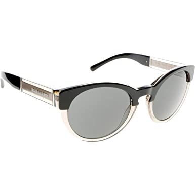 61f7cd8cade5 Amazon.com: Burberry BE4205 Sunglasses 355887-54 - Top Black On Grey ...