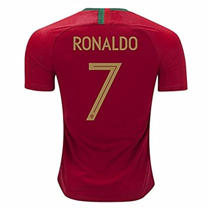 sports shoes 1e3f3 eb7e4 Nasge Ronaldo #7 Portugal 2018 Home Jersey Color Red Size S