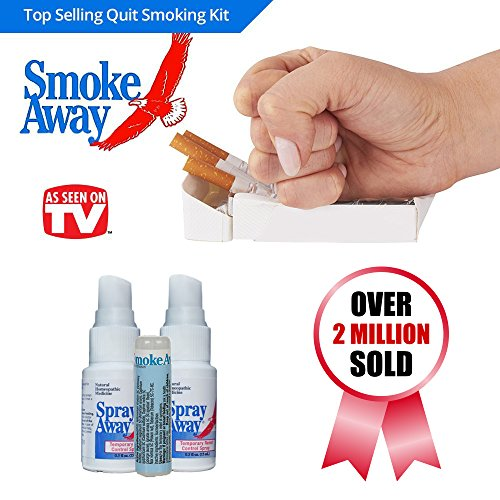Smoke Away - Stop & Quit Smoking 7 Day Kit 30 Day Recovery Supply Electronic Cigar Alternative Natural Quick Anti Smoking Healthy (Stop Smoking Kit)