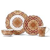 222 Fifth Lyria Saffron 16-piece Dinnerware Set, Service for 4