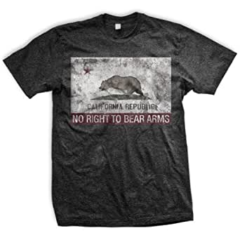 ENDO Apparel California Flag Right to Keep and Bear Arms Infringed Men's T-Shirt Medium Heather Black