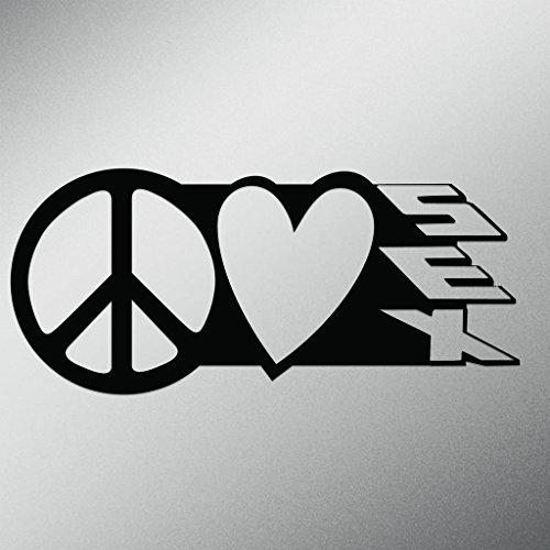 Peace Love Sex Vinyl Decal Sticker | Cars Trucks Vans Walls Laptops Cups | Black| 7.5 X 3.3 Inch | KCD1623B (Ky Lube Costume)