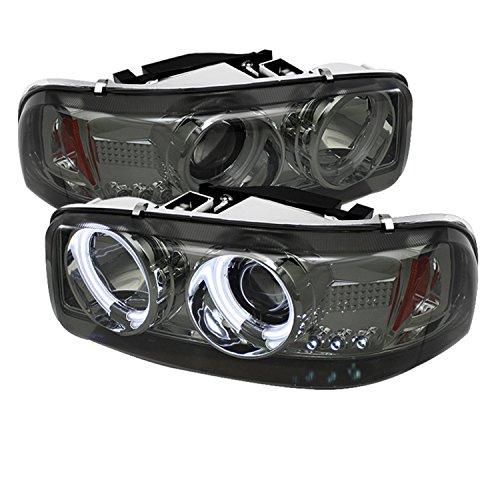 Spyder Auto PRO-YD-CDE00-CCFL-SM GMC Sierra 1500/2500/3500/GMC Sierra Denali Smoke CCFL LED Projector Headlight with Replaceable LEDs