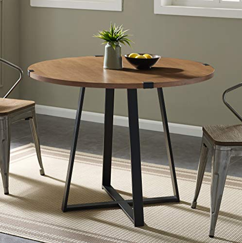 - WE Furniture AZW40RDWRAEO Dining Table, 40