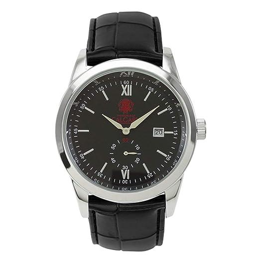 Relojes Calgary Premium Kensington. Reloj Gama Premium cronógrafo de Hombre con Correa de Piel negray Esfera Color Negro.: Amazon.es: Relojes