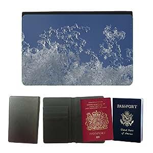 Couverture de passeport // M00150618 Marco Hielo Nieve Mirilla cielo de // Universal passport leather cover