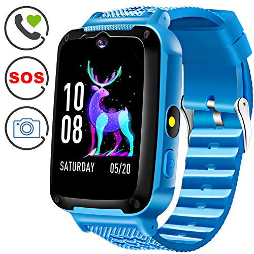Kids Phone Smart Watch with SOS Kids Smartwatch for 3-14 Year Boys Girls Kids Anti-Lost Touch Screen Camera Game Digital Wrist Sport Outdoor Cellphone Watch Bracelet for Holiday Birthday Gift ()