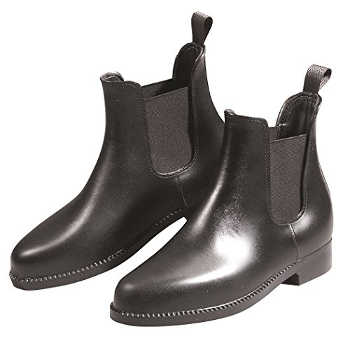 Jodhpur, rubber ankle boots with elastic insert, 100 % waterproof, non-slip, easy-care, black, size 3.