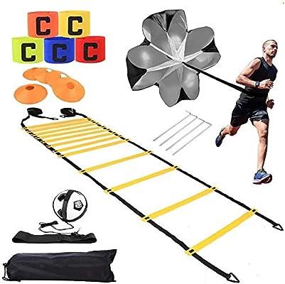 Escaleras De Velocidad Fútbol Entrenamiento Deportivo Entrenamiento De Fútbol Conjunto Ágil Escalera De Entrenamiento De Fútbol Escalera De Agilidad Para Ejercicios De Velocidad Y Coordinación: Amazon.es: Hogar