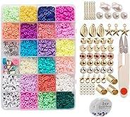 yotijar 3200 Unidades/pacote 6mm Contas Polymer Clay Craft Beads Flat Round Spacer Contas para Jóias Pulseira