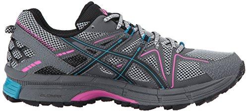 ASICS Womens Gel-Kahana 8 Running Shoe Black/Island Blue/Pink Glow IIm2y