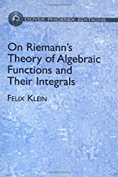On Riemann's Theory Og Algebraic Fu (Dover Books on Mathematics)