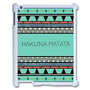 FOR Ipad 2/3/4 Case -(DXJ PHONE CASE)-Best Wishes - Hakuna Matata Quotes-PATTERN 4
