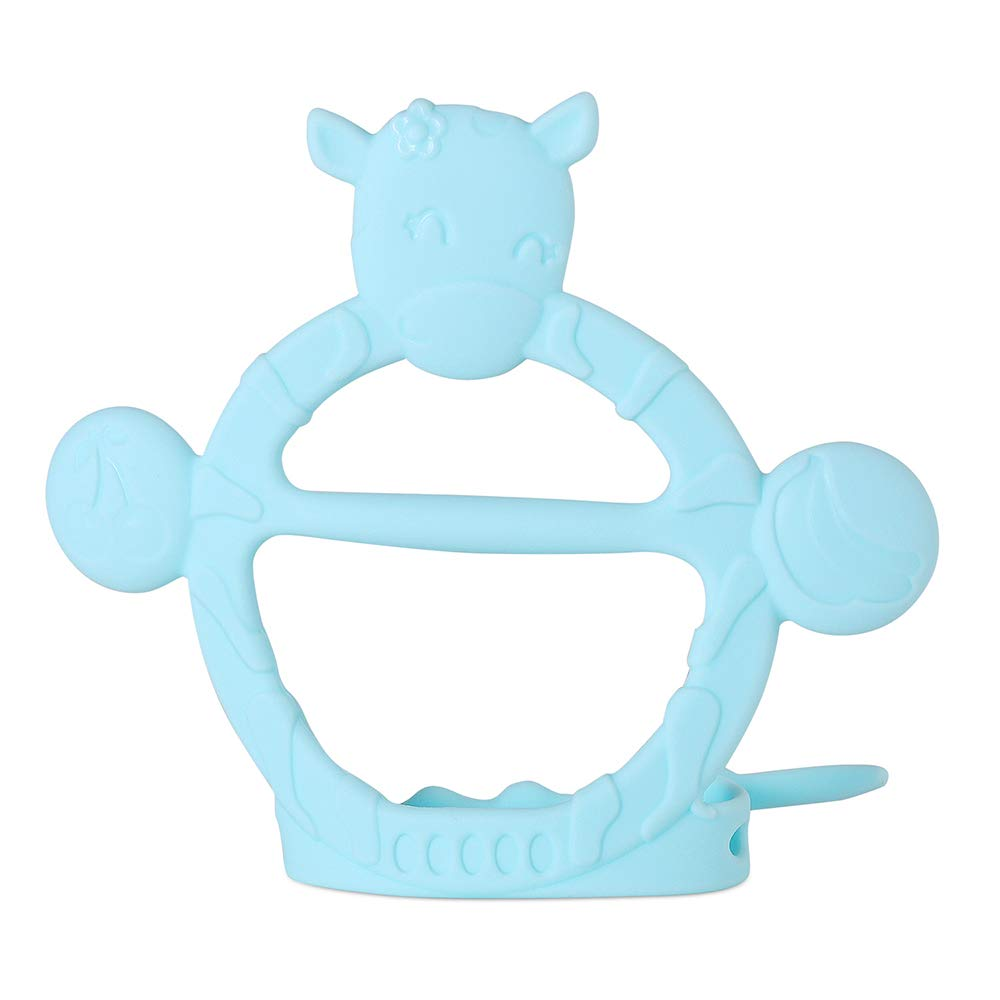 Green Soothing Teething Toy from Birth Baby Teething Toys for Babies 0-6 Months Teethers for Infants /& Toddlers BPA Free Non-Toxic Silicone Molars Adjustable Chew