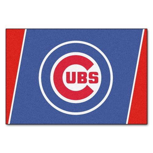 (FANMATS MLB Chicago Cubs Nylon Face 5X8 Plush Rug)