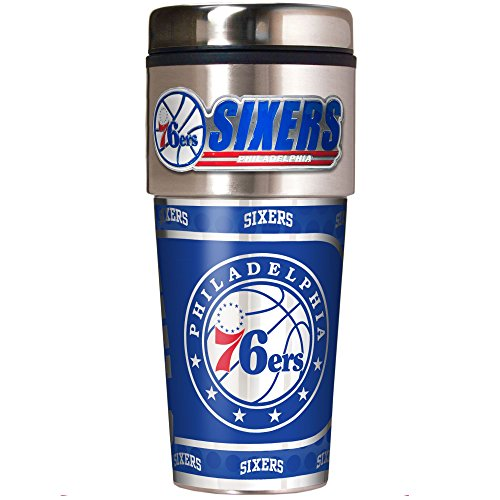 NBA Philadelphia 76ers Metallic Travel Tumbler,  16-Ounce