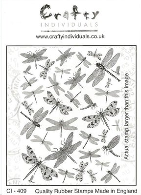 Crafty Individuals Dreaming of Dragonflies Unmouted Rubber Stamp