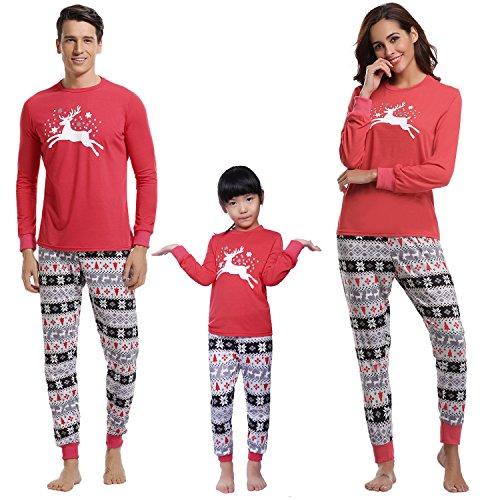 Femmes Vãªtements Rouge Aibrou enfant Hauts Pantalons Et Cerf Noà Enfants da Hommes ¢ Ensemble Pyjamas De di Noã«l uomo Aibrou Set Longs Nuit Famille pigiama gqR66S