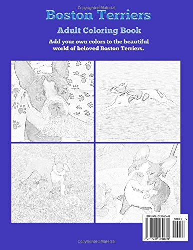 Amazon Boston Terriers Adult Coloring Book 9781523260409 Pam Meily Books