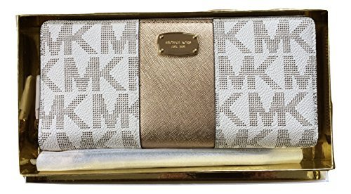 michael-kors-gift-box-center-stripe-continental-travel-wallet-vanilla-pale-gold