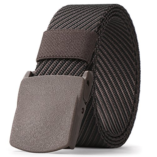 Mens Nylon Web belt 1.5in Width Military Tactical Belt With Plastic Buckles Outdoor Belt (Men Fabric Belt)