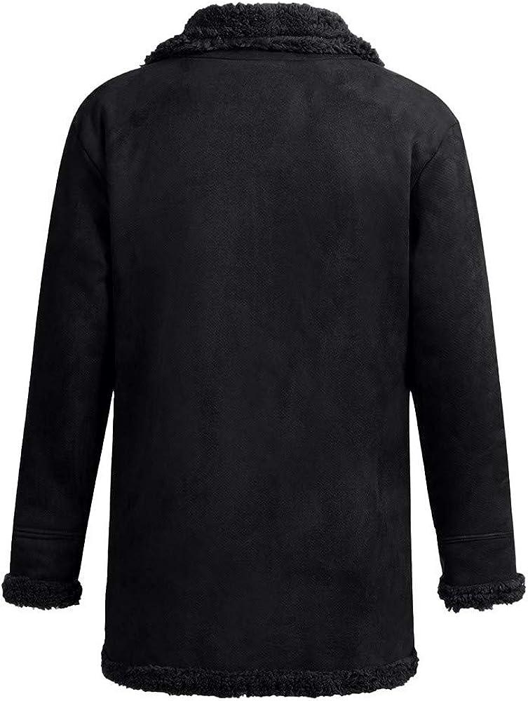 Mens Winter Jacket Veepola Thicken Fleece Coat Wool Outwear Windproof Overcoat