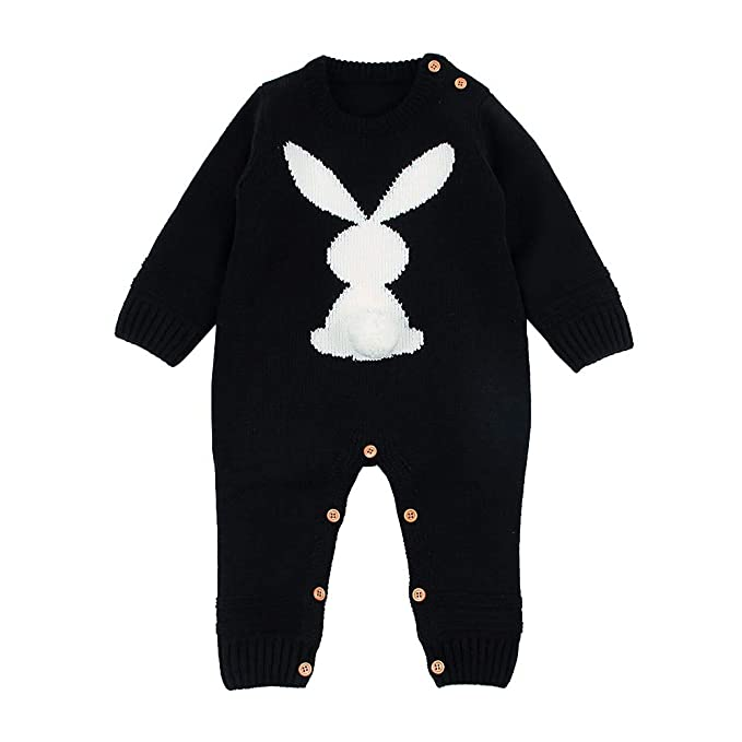 29dac5a7d33e Amazon.com  OPAWO Infant Baby Easter Knit Sweater Romper