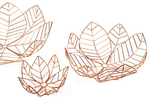 Fig Art - RED FIG HOME Decorative Wire Wall Art - Set of 3 Copper Finish - Home Décor Accent & Table Centerpiece