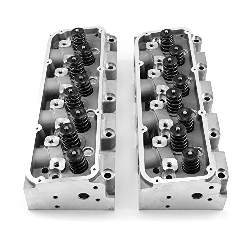 Speedmaster PCE281.2059 Ford 302 351C Cleveland 220cc 64cc Solid-FT Complete Aluminum Cylinder Heads