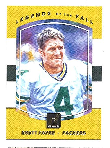 2017 Donruss Sports Legends - BRETT FAVRE 2017 Donruss Legends of the Fall #8 Card Green Bay Packers Football