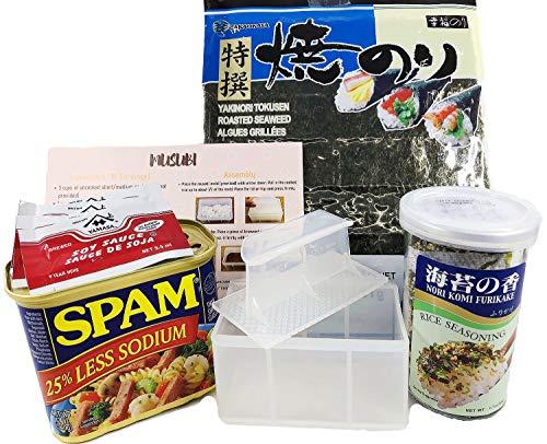 Hawaiian Musubi Making Set (Musubi Maker, SPAM, Nori Seaweed, Furikake, Soy Sauce & ()