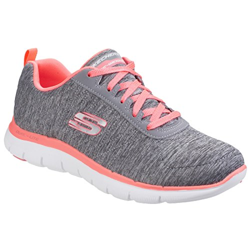 Skechers Mujer / Mujer Flex Appeal 2.0 Marl Efecto Zapatillas / Sneakers Negro / Coral