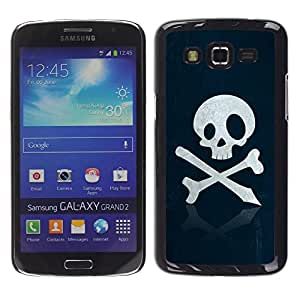 Impact Case Cover with Art Pattern Designs FOR Samsung Galaxy Grand 2 Skull Pirate Sign Emblem Art Bones Slogan Betty shop
