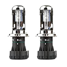 H4-3 Bulbs,CICMOD 55W 8000K H4(H4-3) HID Xenon Replacement Bulbs - Bi xenon HI/Low Beam