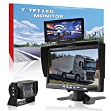 "Digital Wireless Backup Camera Kit, Car Rover Rear View Cameras with 7"" LCD Monitor + 18 Waterproof Super Night Vision LEDs for Cars, Truck, Van, Caravan, Trailer, RV, Camper"