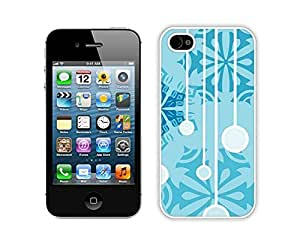 Case For Iphone 5/5S Cover,Christmas Snowflakes Jingling Bell Durability Case For Iphone 5/5S Cover Silicone White Case