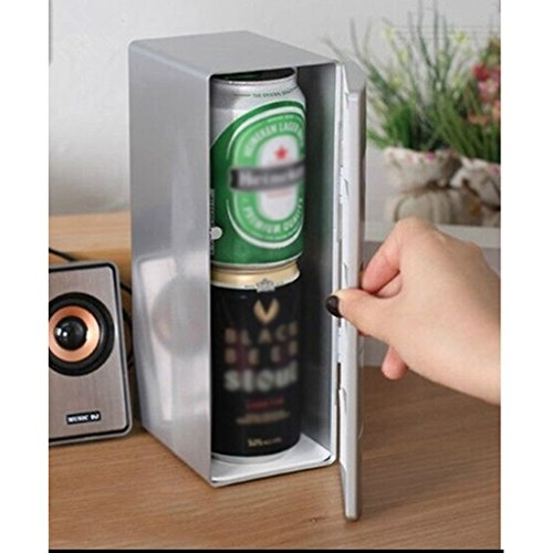 Peaceip Usb car small refrigerator cooling small mini dormitory desktop student creative ()