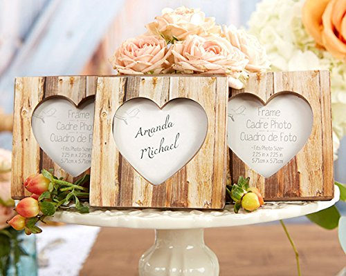 50 ''Rustic Romance'' Faux-Wood Heart Place Card Holders/Photo Frames by Kateaspen (Image #2)