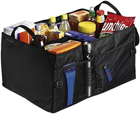Hama Kofferraumtasche Groß Faltbare Autotasche Kofferraum Organizer Mit Klettbefestigung Inkl Klettband Schwarz Bekleidung