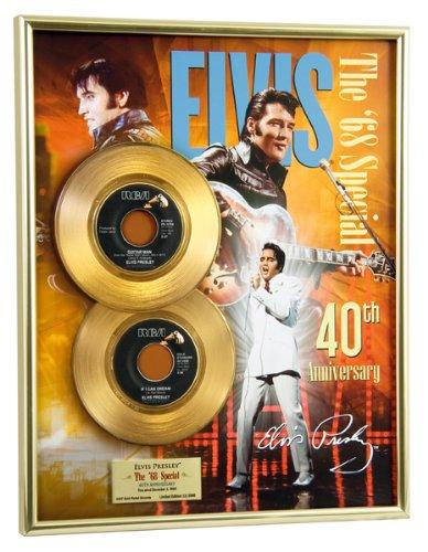 Elvis Presley '68 Special Anniversary Framed Gold Record Record Framed