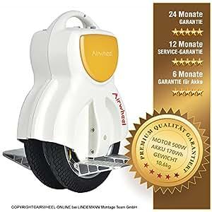 Airwheel Patín monorrueda eléctrico Q1, se equilibra solo, Hombre, Q1W170, Bianco, 34.8 x 46.6 x 18.9 cm