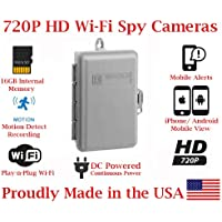 SecureGuard 720p HD Wi-Fi Wireless IP Outdoor Electrical Utility Box Hidden Security Nanny Cam Spy Camera with 32GB Memory