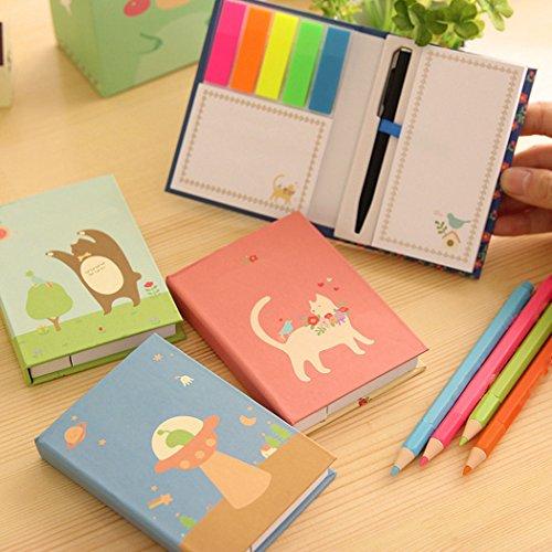 Price comparison product image S&M TREADE-1pc Pretty Mini Tiny Notebook Note Pen Memo Diary Pocket Planner Color Random