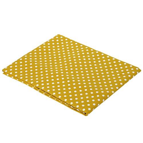 (Yellow Pin Dots Crib Fitted Sheet)
