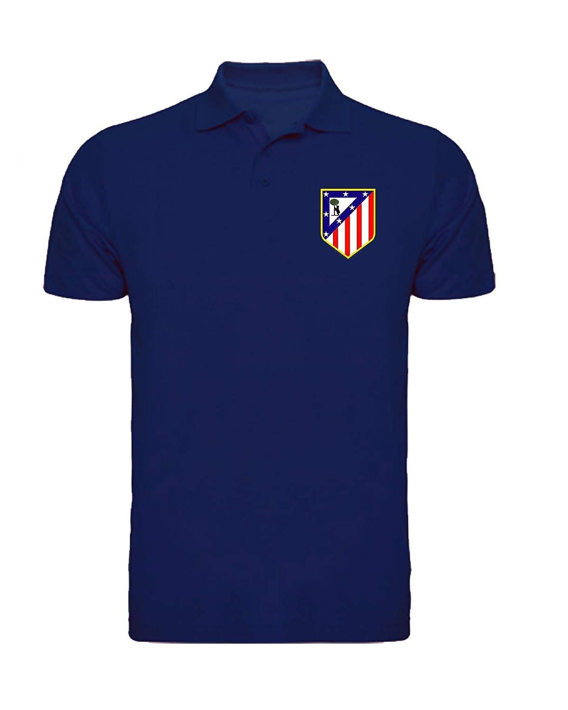 CamisetasATM1903 Polo Atlético de Madrid Escudo del Atleti (Azul ...
