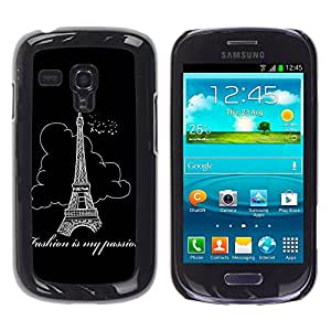 - Paris Eiffel Tower - - Fashion Dream Catcher Design Hard Plastic Protective Case Cover FOR Samsung Galaxy S3 MINI 8190 Retro Candy
