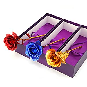si ying 24K Gold Foil Rose Birthday Gift - Best Gift for Valentine's Day, Mother's Day, Anniversary, Birthday Gift 16
