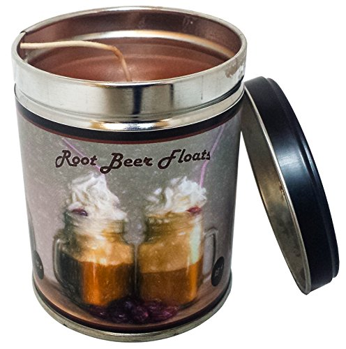 Our Own Candle Company Root Beer Float Scented Candle in 13 Ounce Tin with a Vintage Floats Label ()
