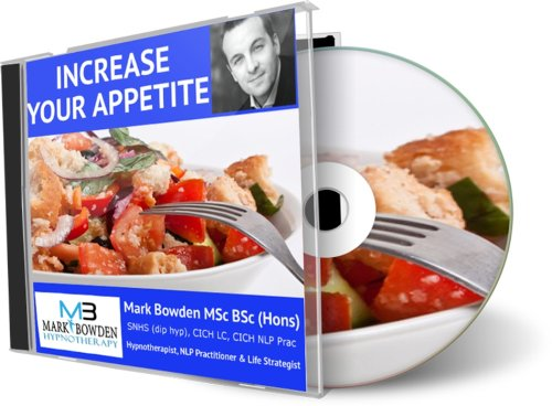Increase Your Appetite Hypnosis CD - If you want to eat more food, stimulate your appetite and gain more weight and bulk up then this hypnotherapy recording is for you!