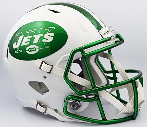 NFL New York Jets 2015 Chrome Full Size Speed Replica Helmet, Small, White by Riddell